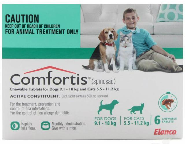 Foto Spinosad (Comfortis) - Farmaco per Cani e Gatti